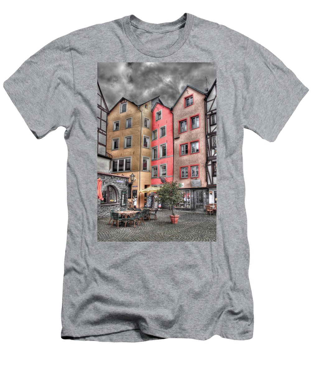 Europe Men's T-Shirt (Athletic Fit) featuring the photograph Tricolor Houses by Bill Lindsay