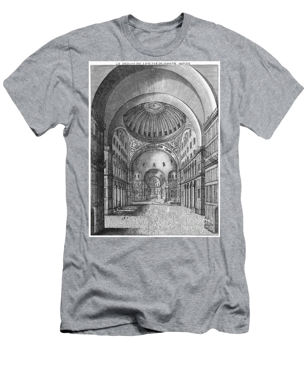 1680 Men's T-Shirt (Athletic Fit) featuring the photograph Turkey: Hagia Sophia, 1680 by Granger