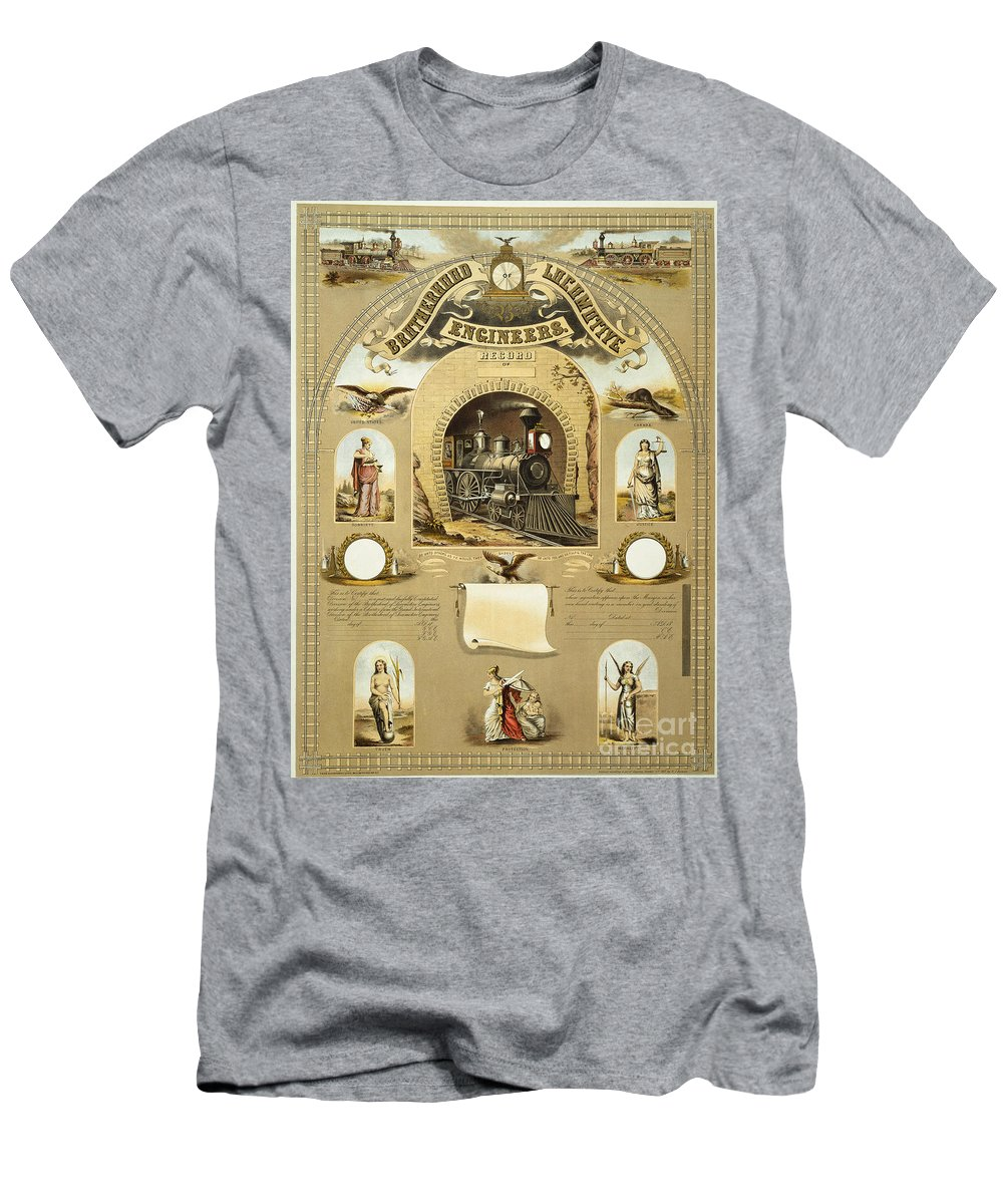 1877 Men's T-Shirt (Athletic Fit) featuring the photograph Union Certificate, 1877 by Granger