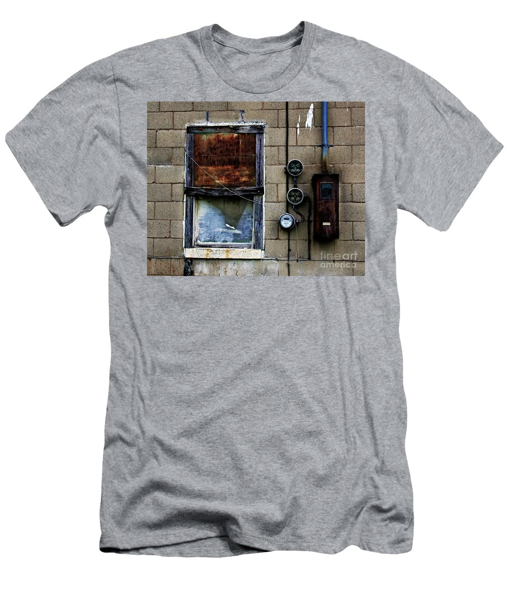 Window Men's T-Shirt (Athletic Fit) featuring the photograph Urban Gritty by Perry Webster