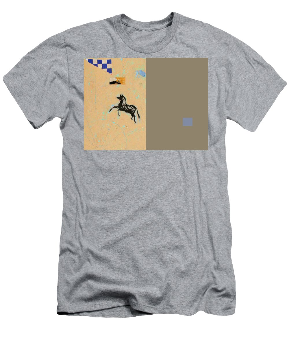 Conceptual Men's T-Shirt (Athletic Fit) featuring the painting Variations Equine by Kathleen Grace