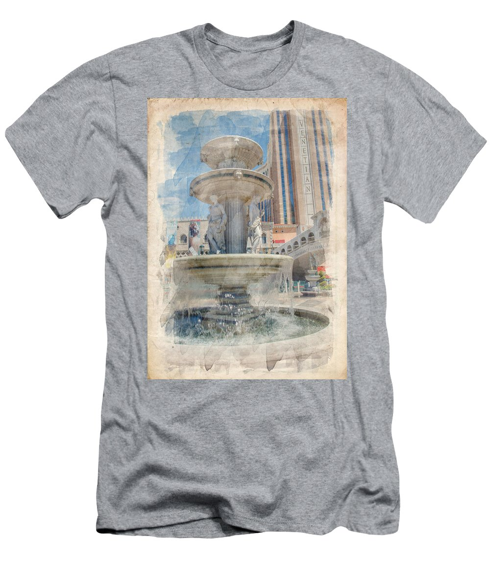 America Men's T-Shirt (Athletic Fit) featuring the photograph Venetian by Ricky Barnard