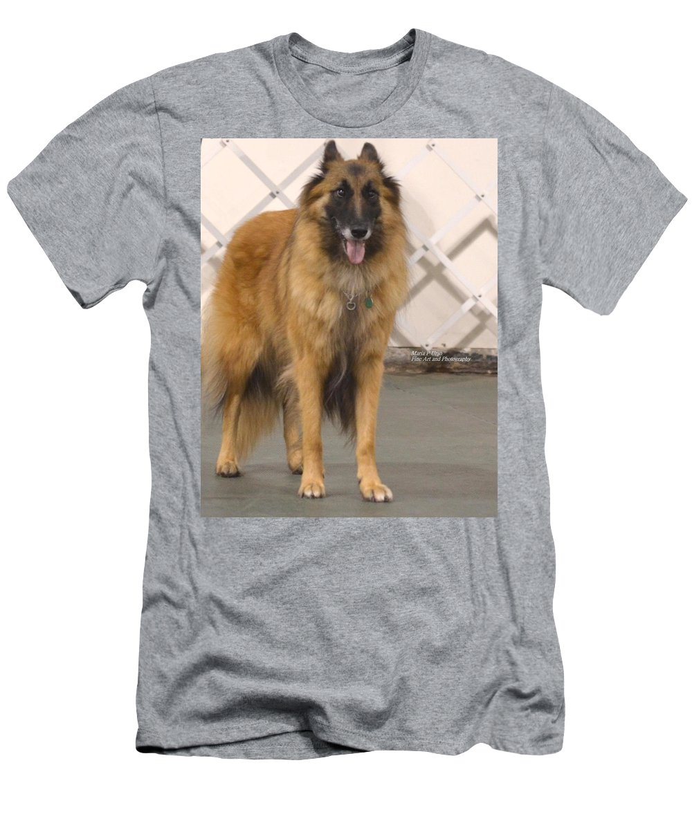 Belgian Tervuran Men's T-Shirt (Athletic Fit) featuring the photograph Waiting On You by Maria Urso