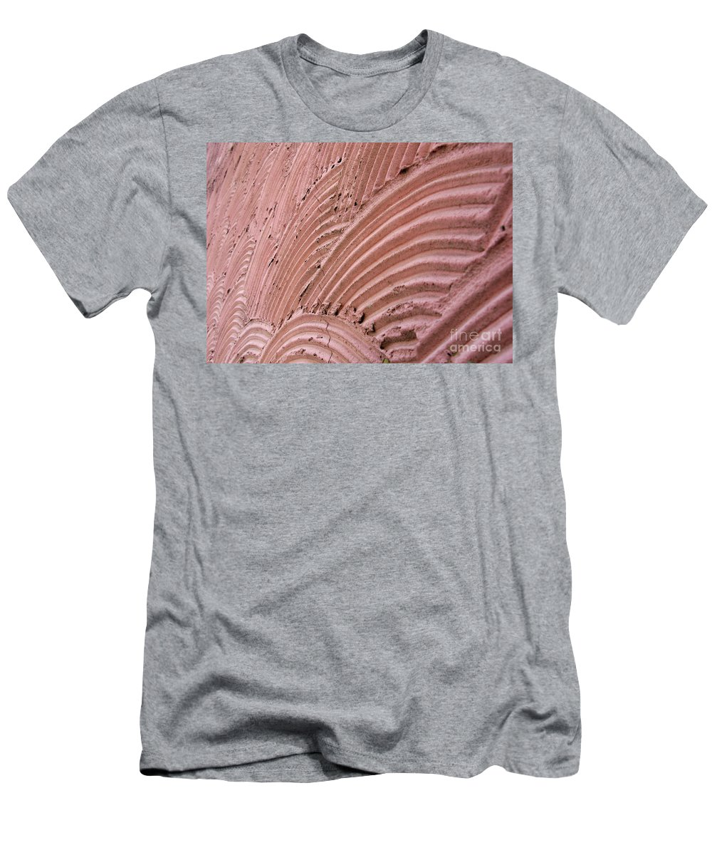 Abstract Men's T-Shirt (Athletic Fit) featuring the photograph Wall. Abstract Macro Photography. by Ausra Huntington nee Paulauskaite