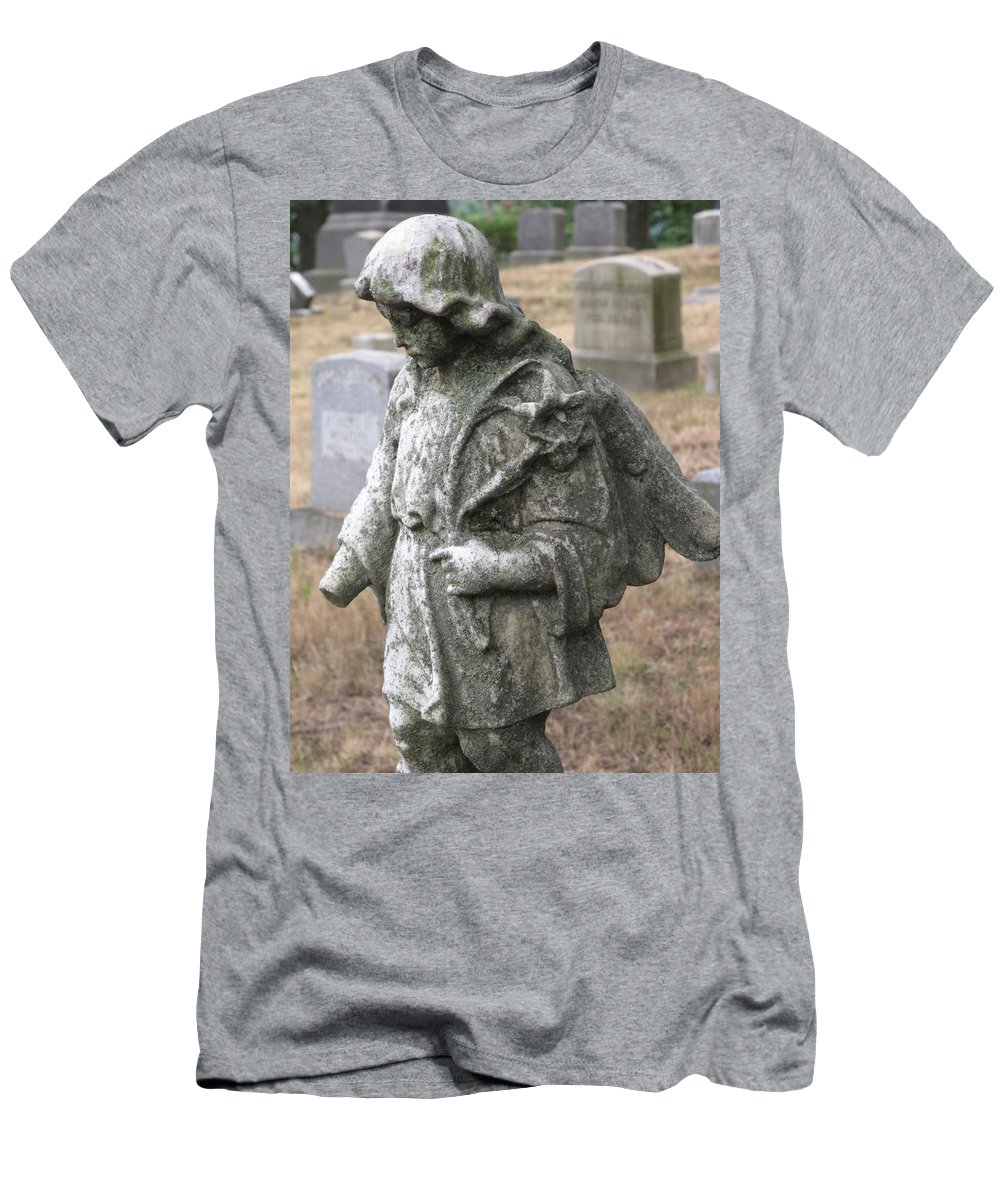 Statue Men's T-Shirt (Athletic Fit) featuring the photograph Wandering by Michele Nelson