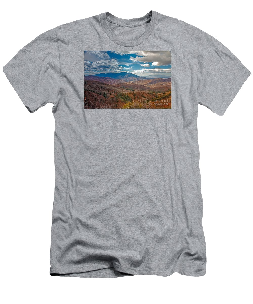 Mount Nebo Men's T-Shirt (Athletic Fit) featuring the photograph Wasatch Range by Robert Bales