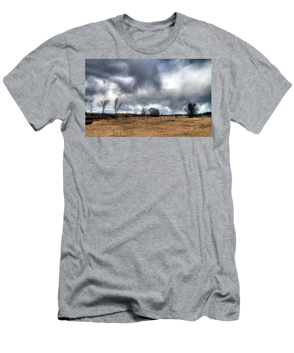 Acrylic Prints Men's T-Shirt (Athletic Fit) featuring the photograph Weather by John Herzog