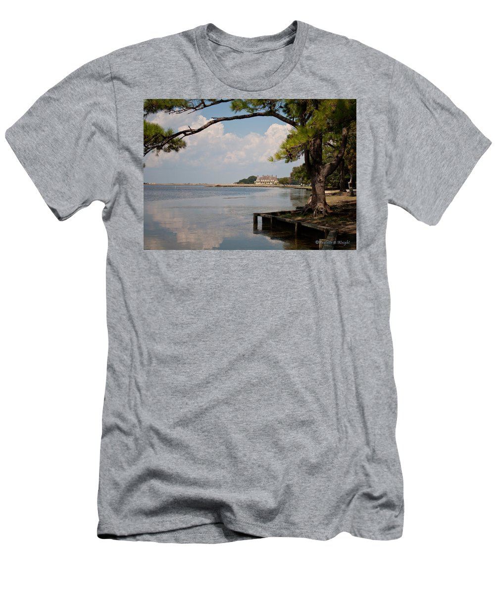 Outdoors Men's T-Shirt (Athletic Fit) featuring the photograph Whalehead Club by Paulette B Wright