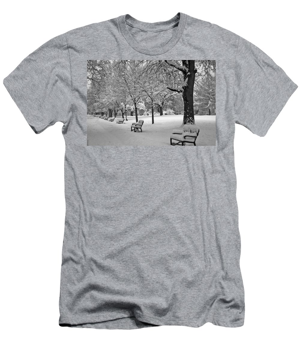 Washington Park Men's T-Shirt (Athletic Fit) featuring the photograph Winter 0004 by Carol Ann Thomas