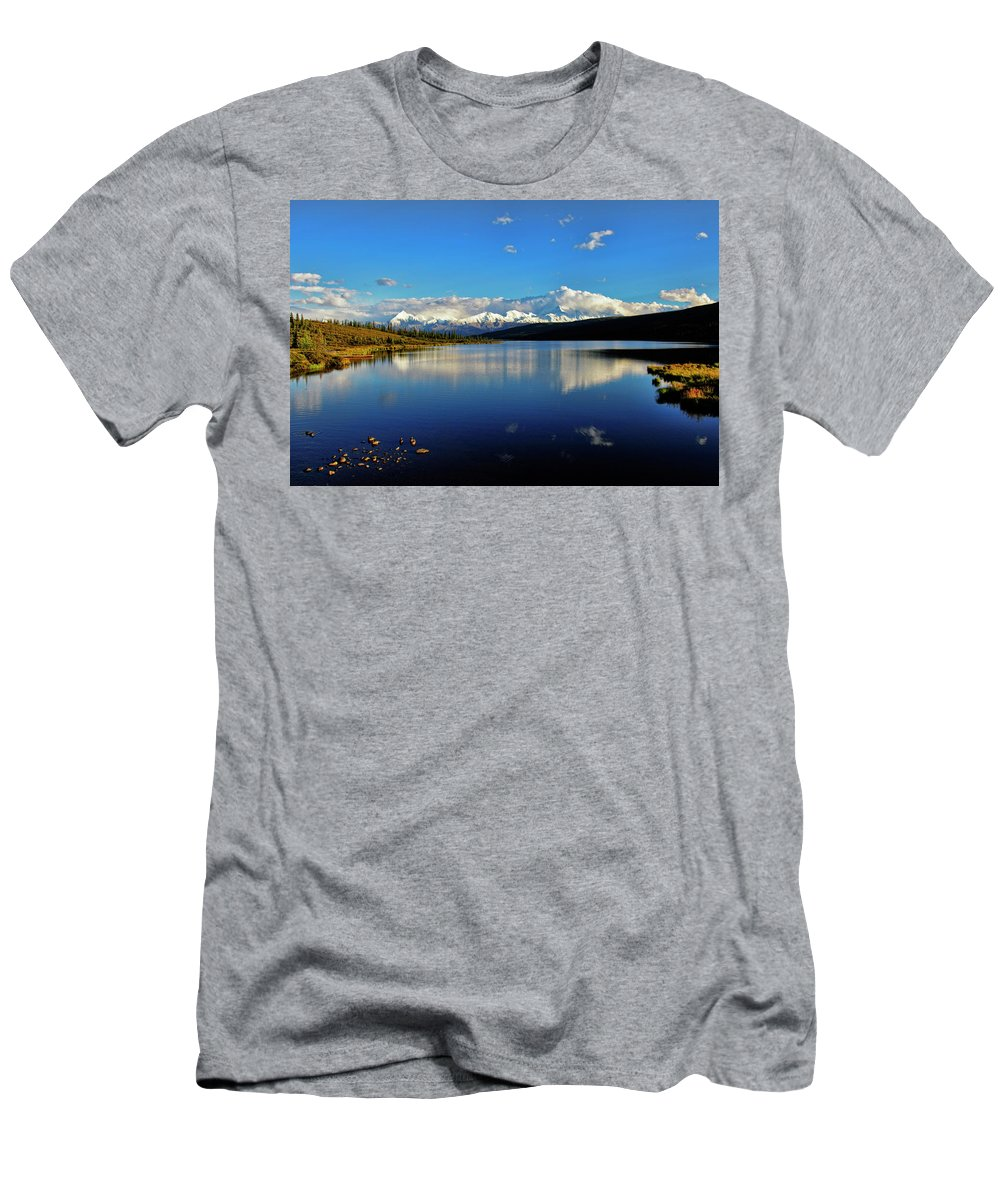 Denali Men's T-Shirt (Athletic Fit) featuring the photograph Wonder Lake II by Rick Berk