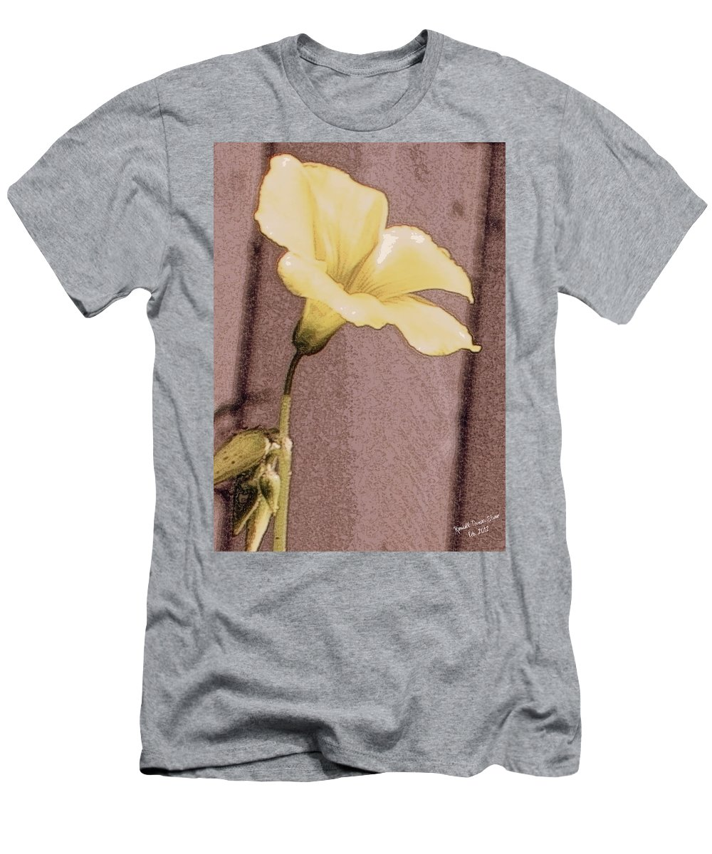 Flower Men's T-Shirt (Athletic Fit) featuring the photograph Yellow Wood Sorrel by Randall Thomas Stone