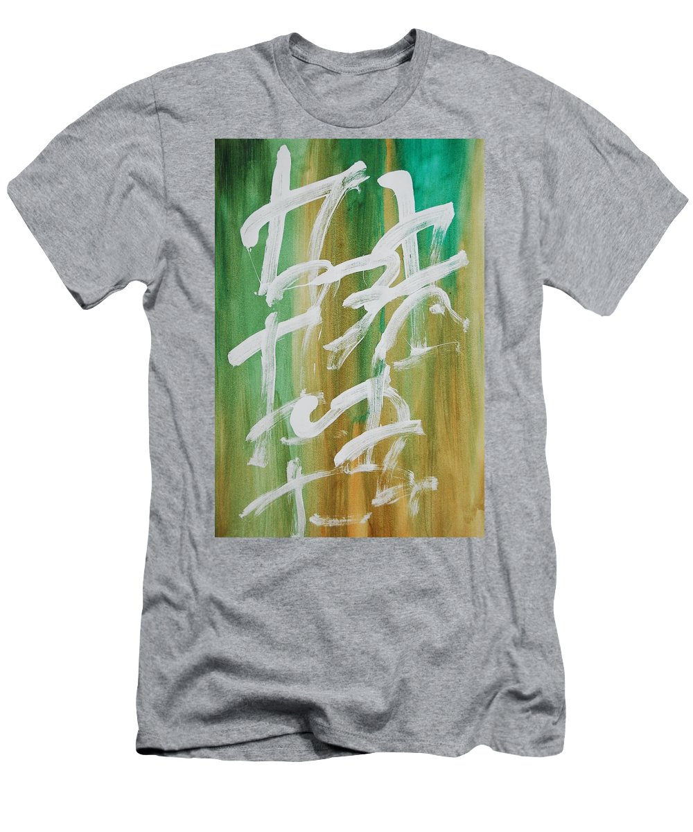 Chinese Men's T-Shirt (Athletic Fit) featuring the painting Chinese Numbers by Lauren Luna