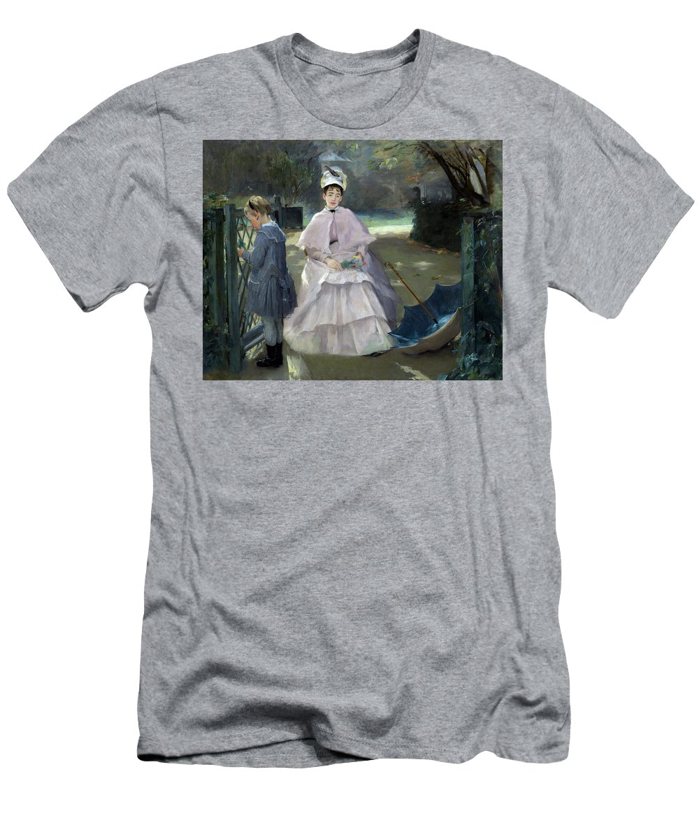 Artist Men's T-Shirt (Athletic Fit) featuring the painting Nanny And Child by Eva Gonzales