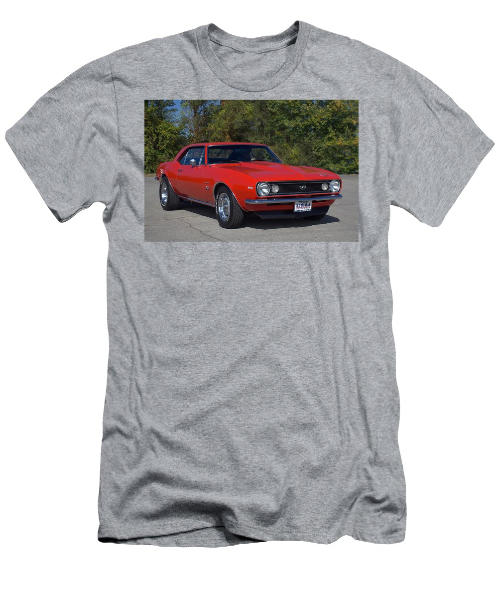 1967 Men's T-Shirt (Athletic Fit) featuring the photograph 1967 Camaro Ss by Tim McCullough