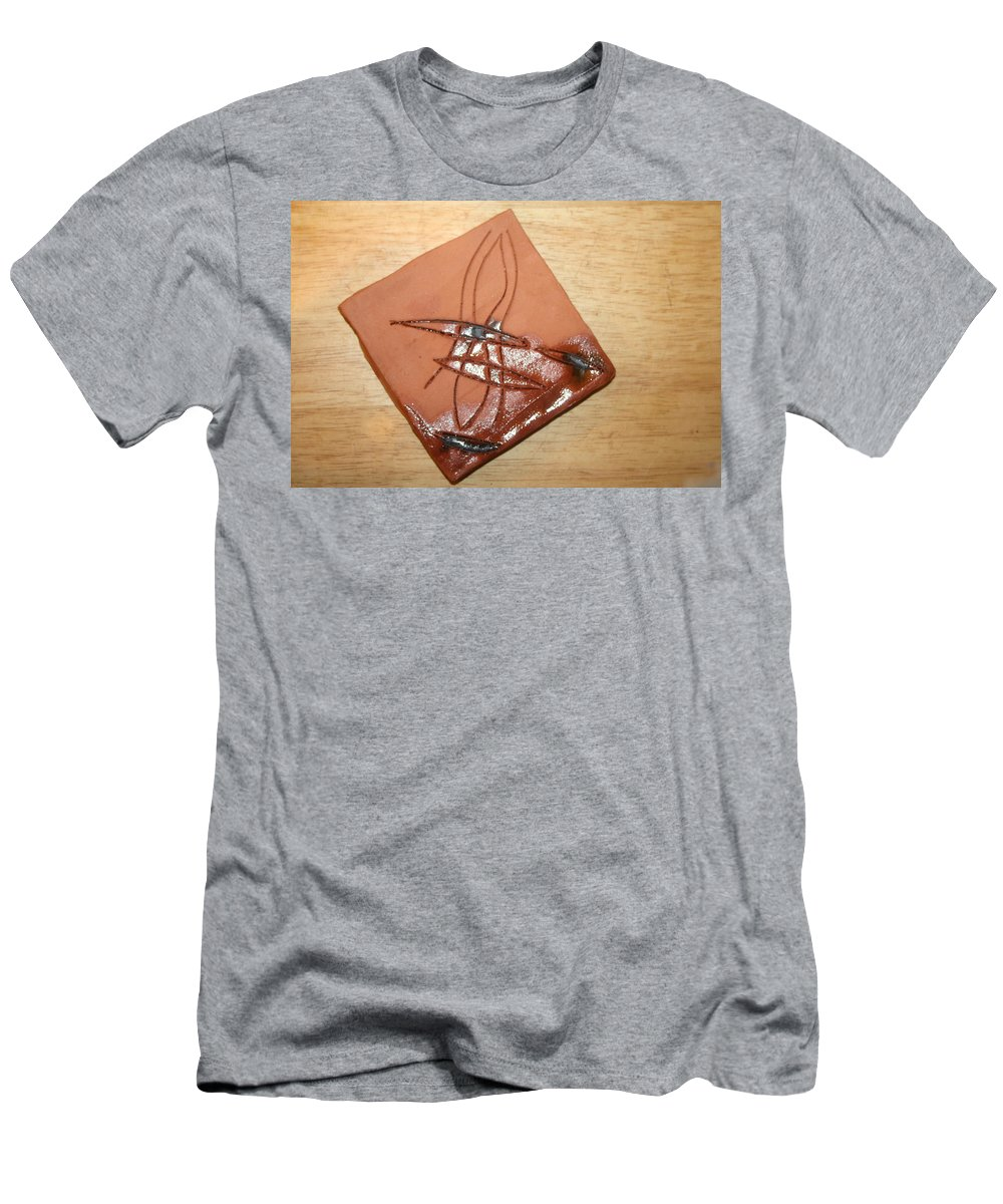 Jesus Men's T-Shirt (Athletic Fit) featuring the ceramic art Agony - Tile by Gloria Ssali