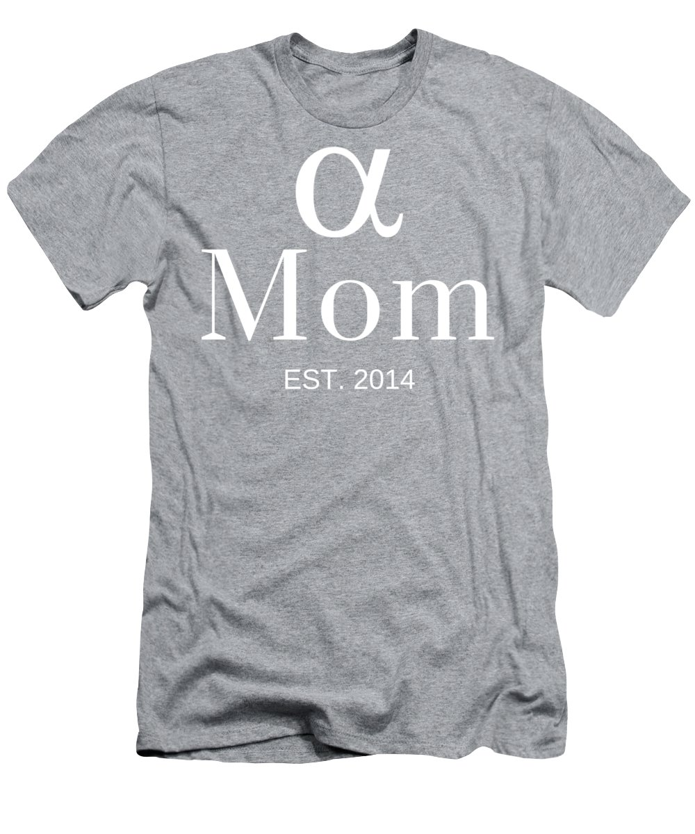 Mom Shirts With Sayings Men's T-Shirt (Athletic Fit) featuring the digital art Alpha Mom by Outskirts Artistic Impressions