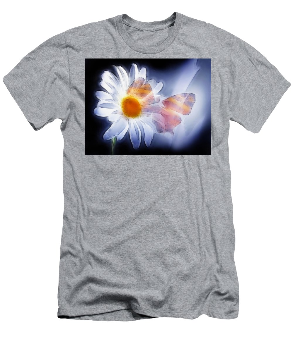 Butterfly Men's T-Shirt (Athletic Fit) featuring the photograph Butterfly by Manfred Lutzius
