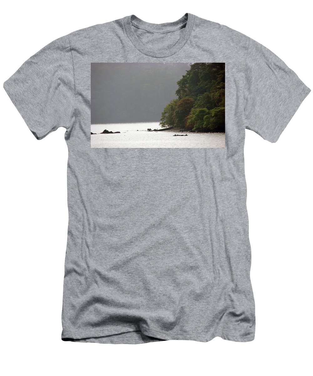 Cameroon Men's T-Shirt (Athletic Fit) featuring the photograph Cameroon Fisherman Africa by Brett Winn