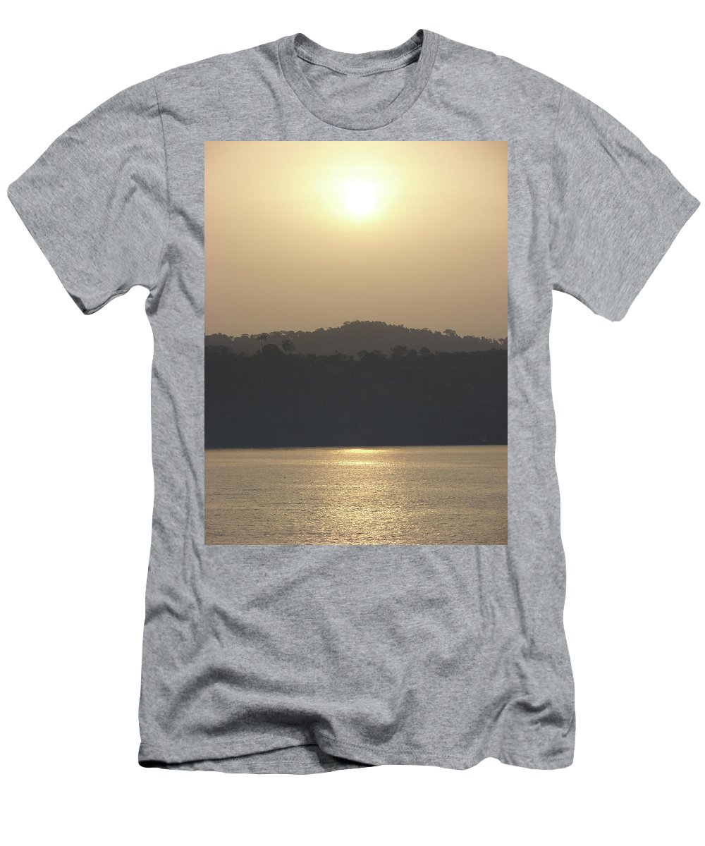 Cameroon Photographs Men's T-Shirt (Athletic Fit) featuring the photograph Cameroon Sunrise Africa by Brett Winn