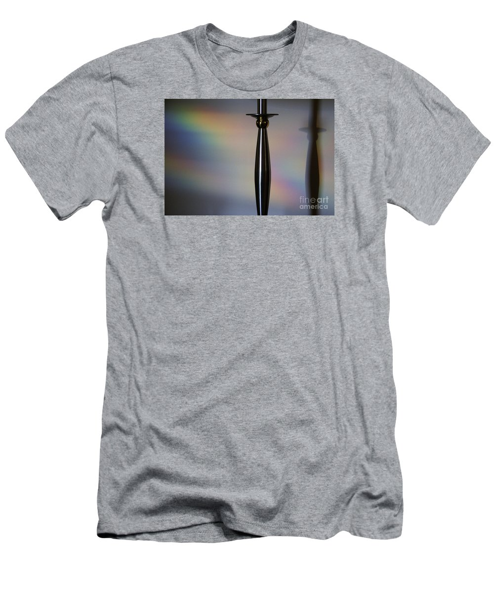 Black Men's T-Shirt (Athletic Fit) featuring the photograph Casting Shadows by Linda Shafer