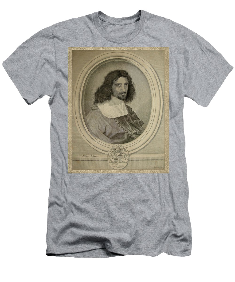 Art Men's T-Shirt (Athletic Fit) featuring the photograph Celebrity Etchings - Clive Owen by Serge Averbukh