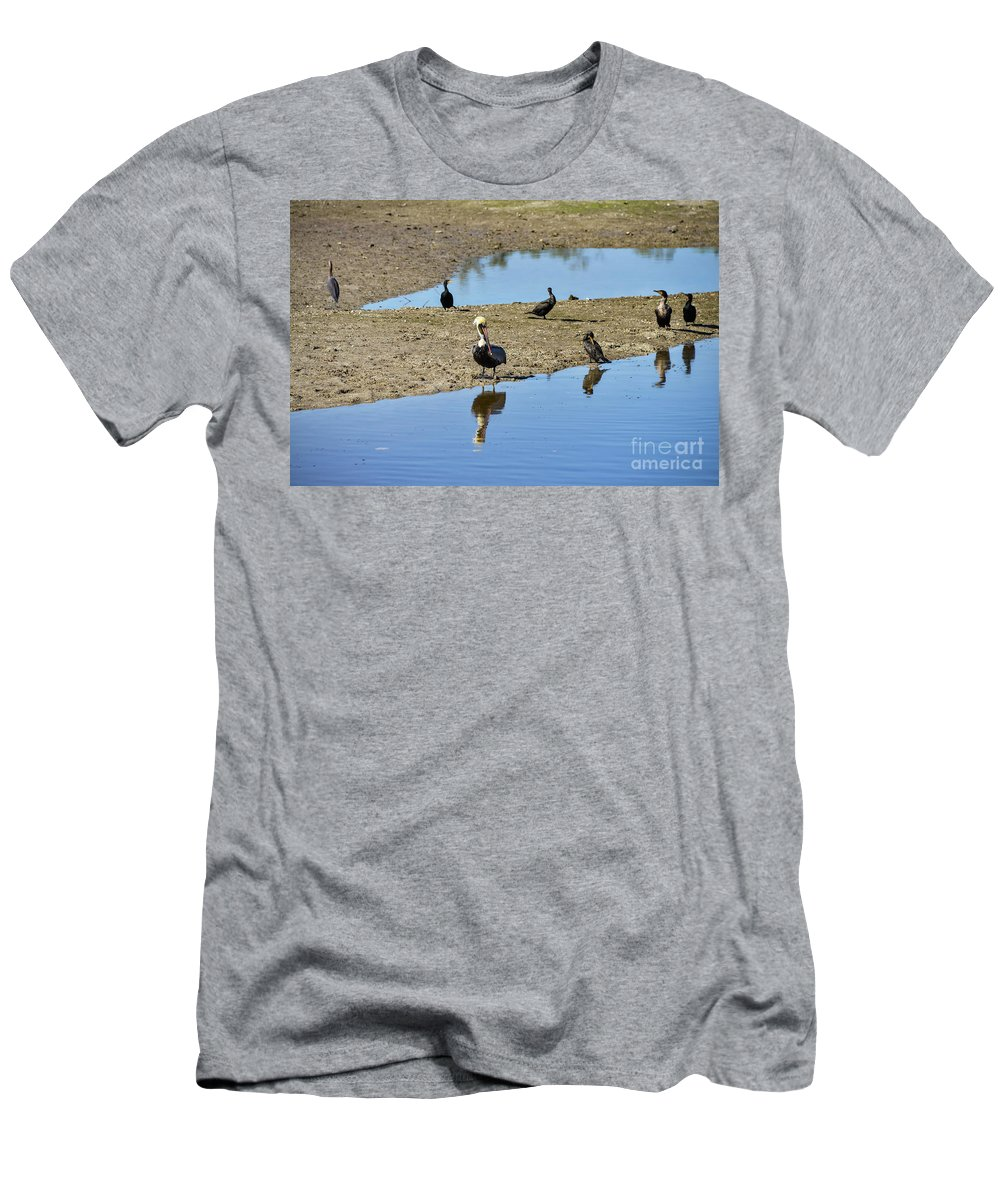 Sanibel Island Men's T-Shirt (Athletic Fit) featuring the photograph Center Of Attraction by Bob Phillips