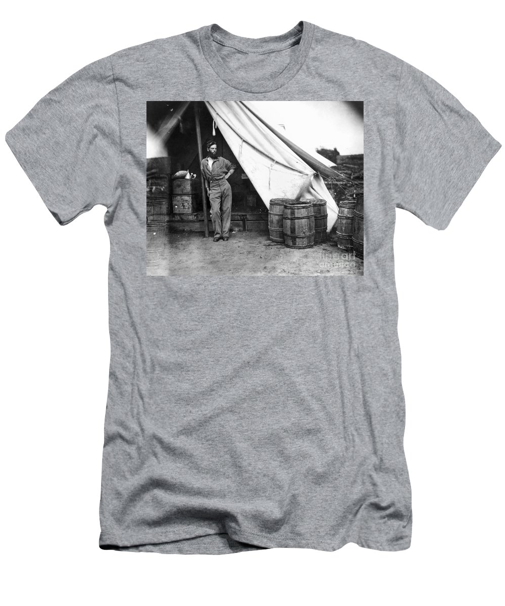1860s Men's T-Shirt (Athletic Fit) featuring the photograph Civil War Soldier by Granger