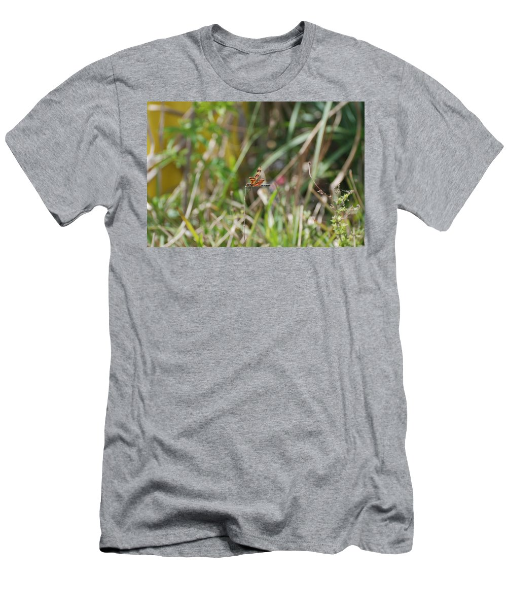 Nature Men's T-Shirt (Athletic Fit) featuring the photograph Dragon Fly by Rob Hans