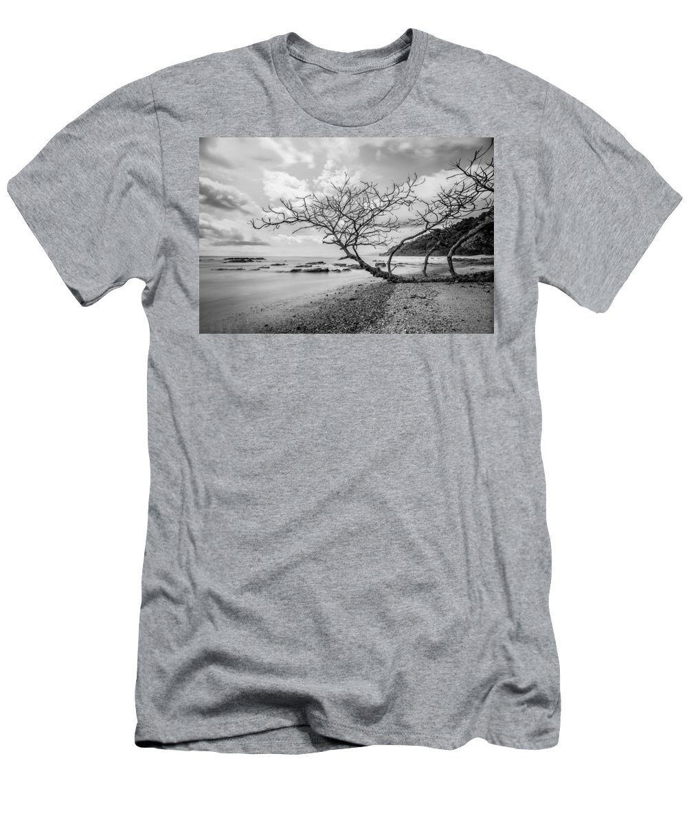 Driftwood Men's T-Shirt (Athletic Fit) featuring the photograph Driftwood by Lance Laurence