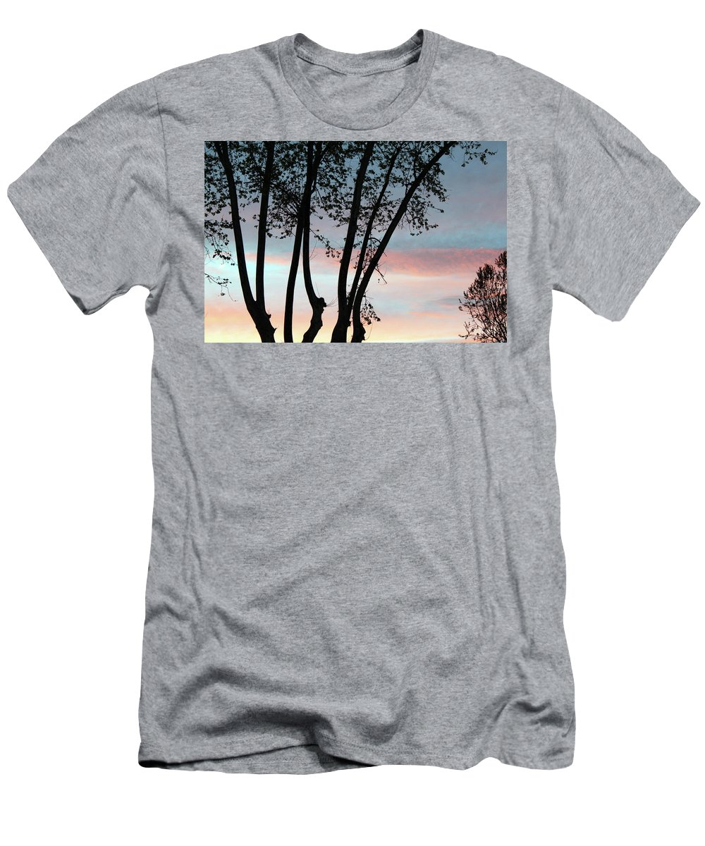 Tree Men's T-Shirt (Athletic Fit) featuring the photograph Early Morning by Munir Alawi