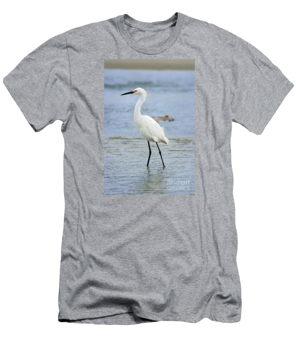 Men's T-Shirt (Athletic Fit) featuring the photograph Egret by Angela Rath