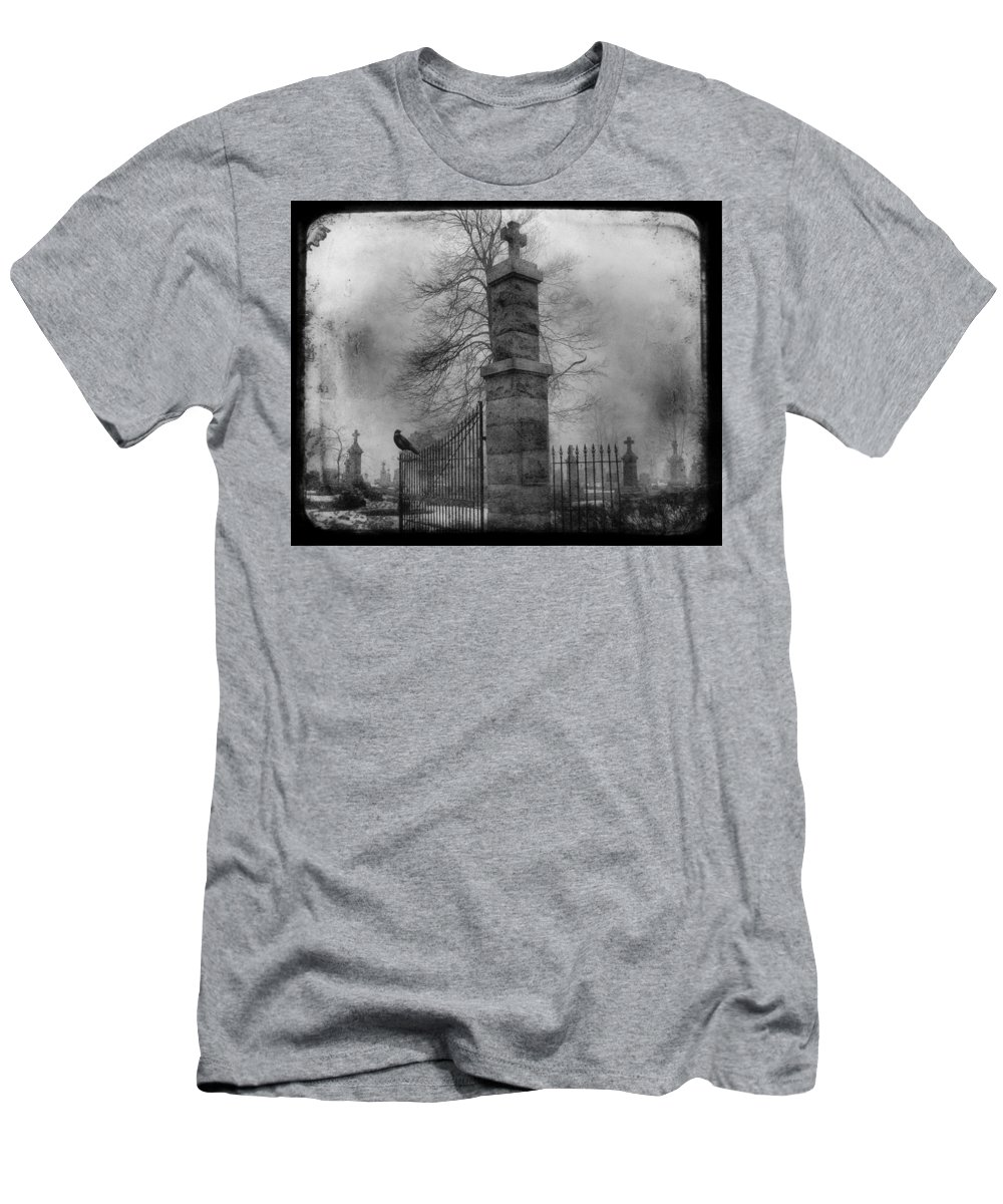 Gate Men's T-Shirt (Athletic Fit) featuring the photograph Entrance by Gothicrow Images
