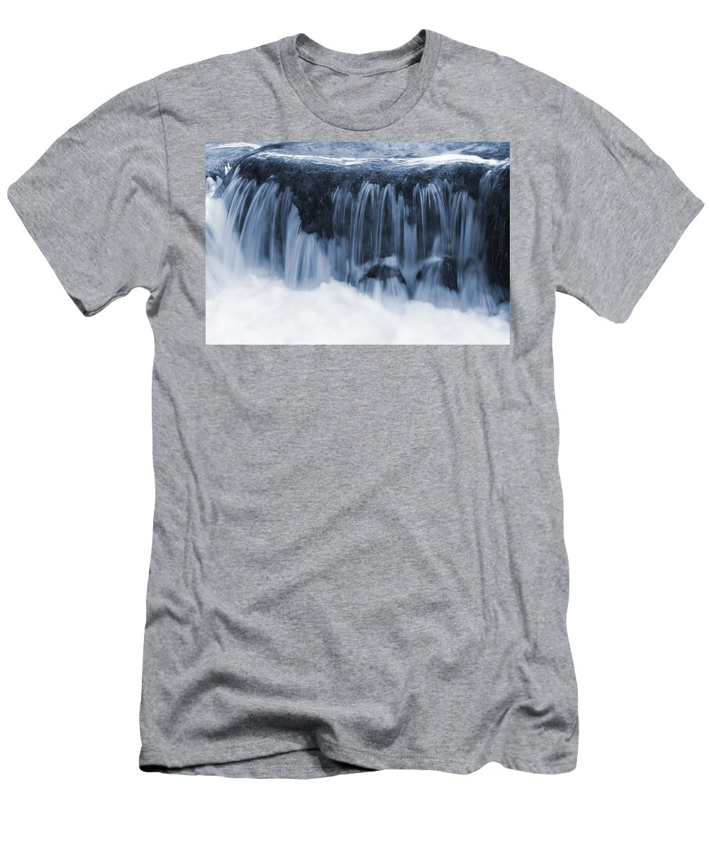 Nature Men's T-Shirt (Athletic Fit) featuring the photograph Flow II by Daniel Csoka