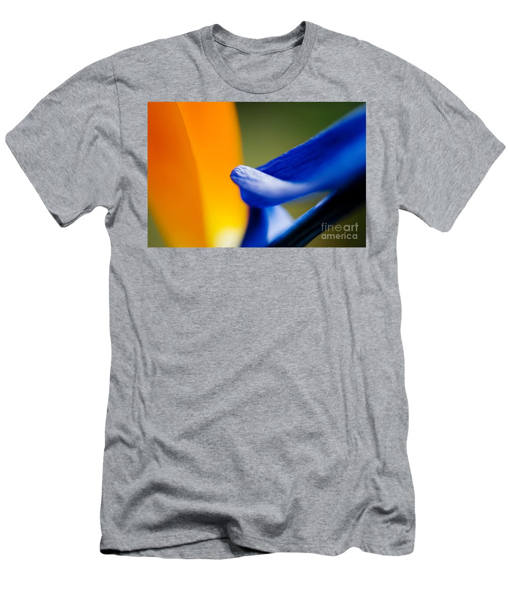 83-csm0053 Men's T-Shirt (Athletic Fit) featuring the photograph Flower Abstract by Ray Laskowitz - Printscapes