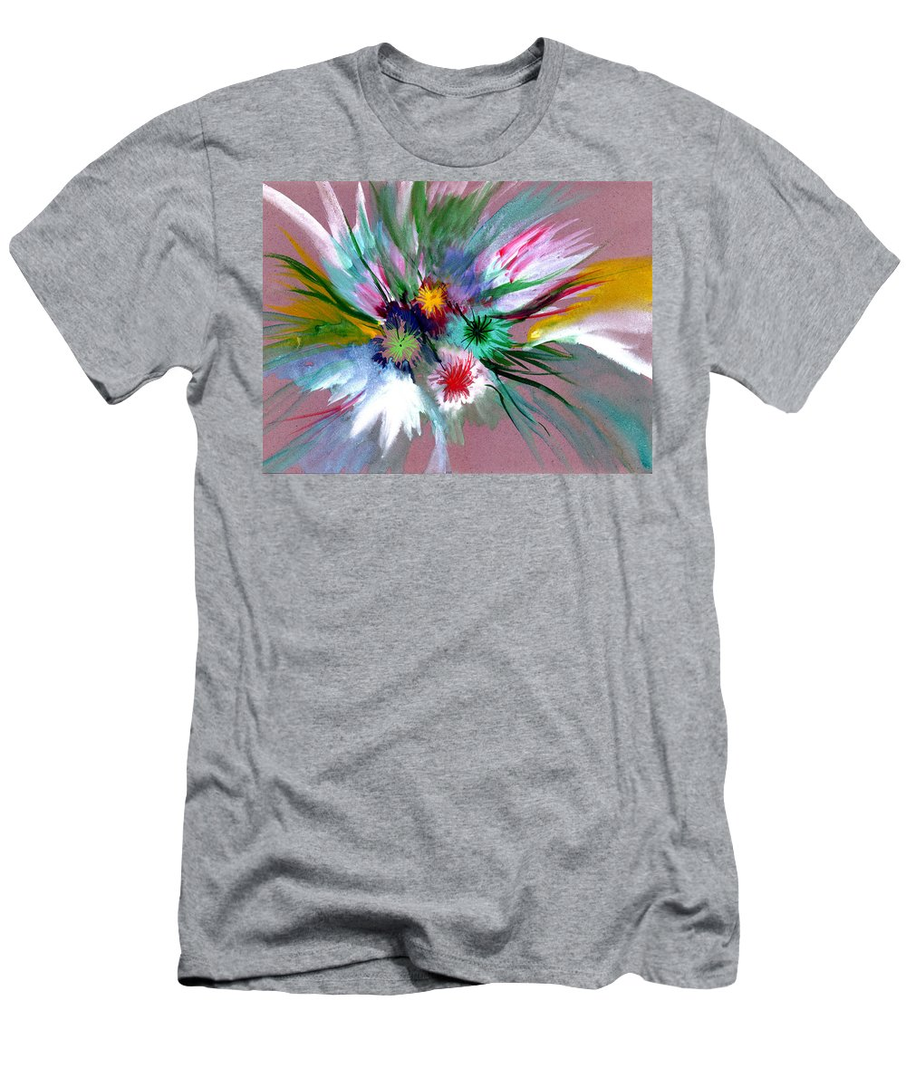 Flowers Men's T-Shirt (Athletic Fit) featuring the painting Flowers by Anil Nene