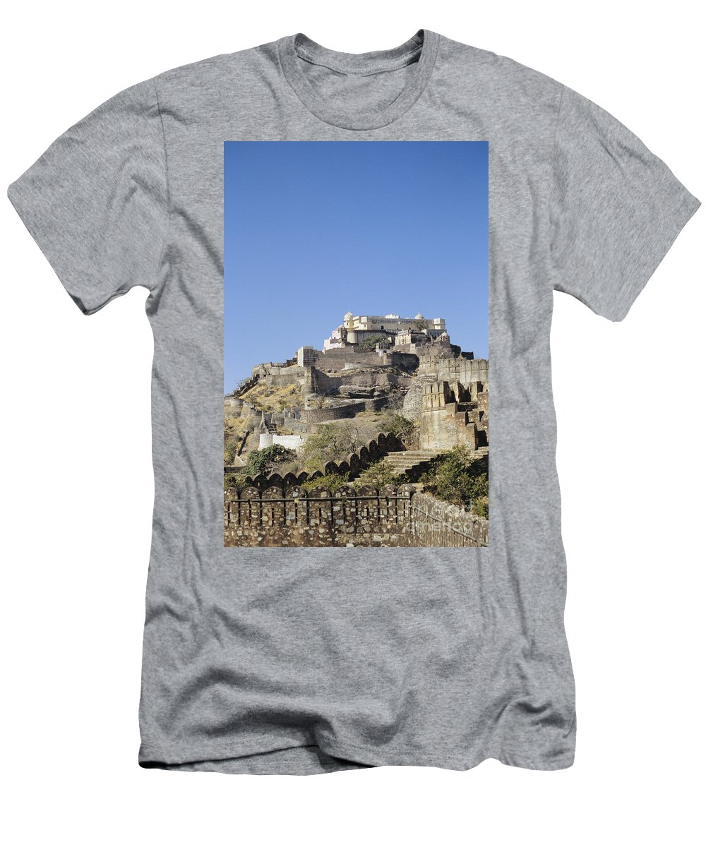 Architectural Men's T-Shirt (Athletic Fit) featuring the photograph Fort Kumbhalgarh by Gloria and Richard Maschmeyer - Printscapes