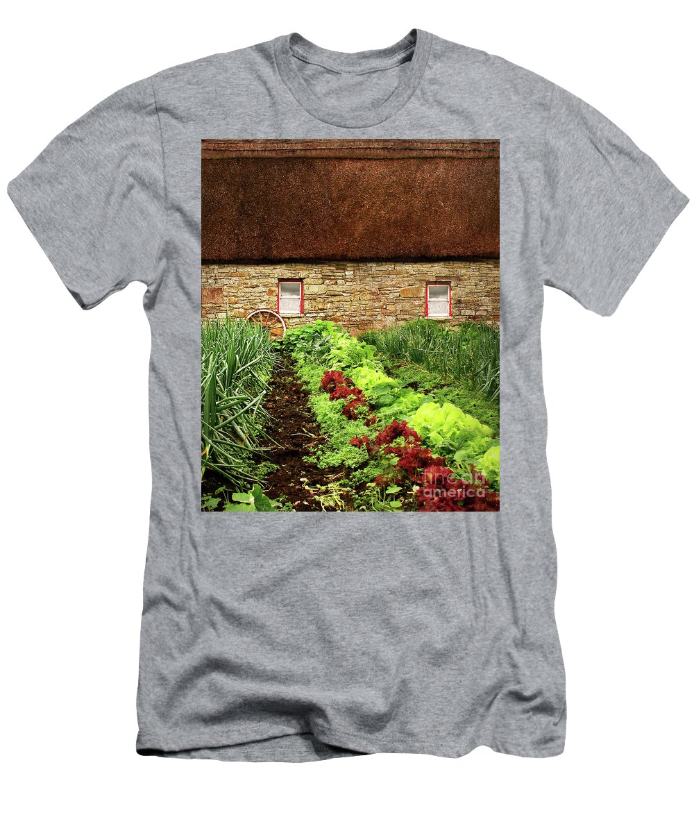 Farm Men's T-Shirt (Athletic Fit) featuring the digital art Garden Farm by Vicki Lea Eggen