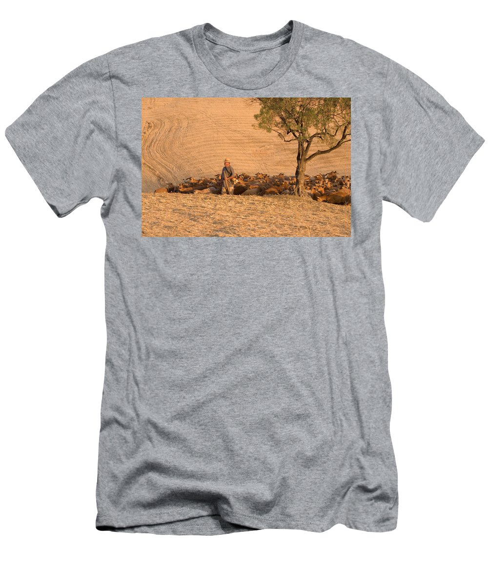 Goat Men's T-Shirt (Athletic Fit) featuring the photograph Goatherd by Mal Bray