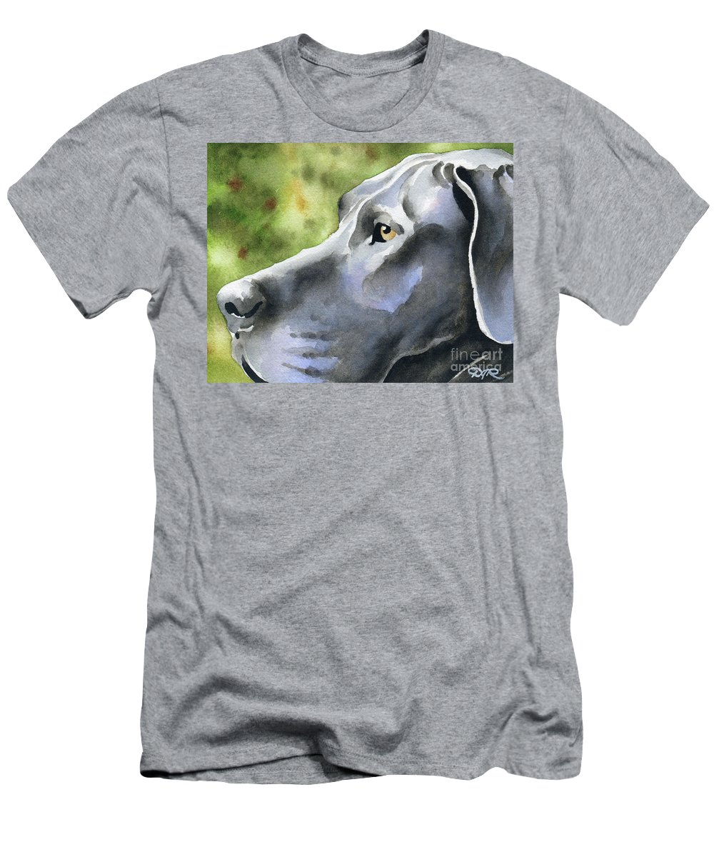 Great Men's T-Shirt (Athletic Fit) featuring the painting Great Dane by David Rogers