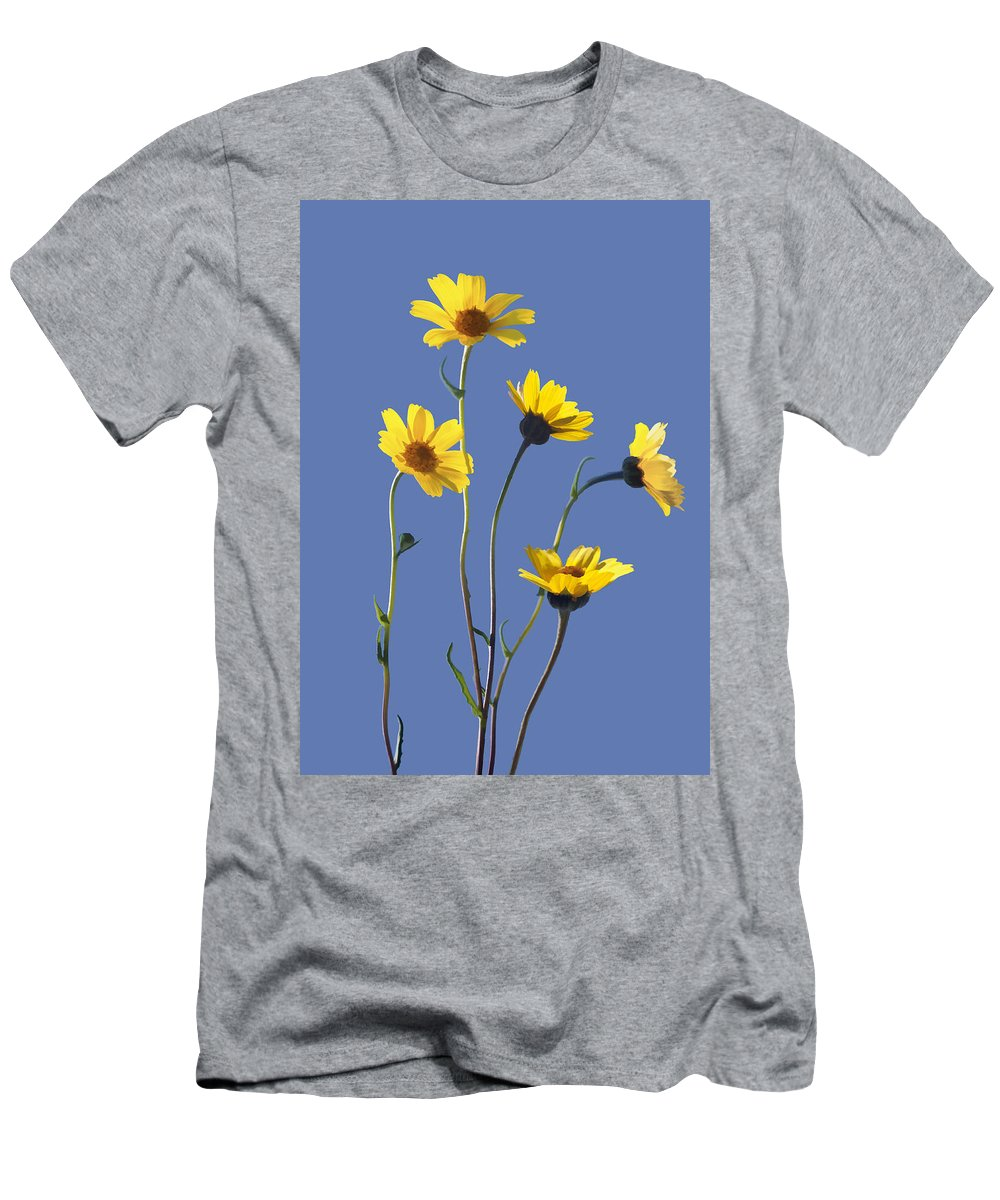 Daisy Men's T-Shirt (Athletic Fit) featuring the digital art Happy Daisies II by Sharon Foster