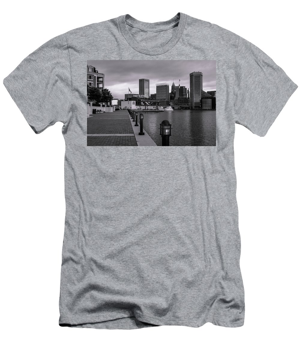 2017 Men's T-Shirt (Athletic Fit) featuring the photograph Harbor Walk by Jim Archer