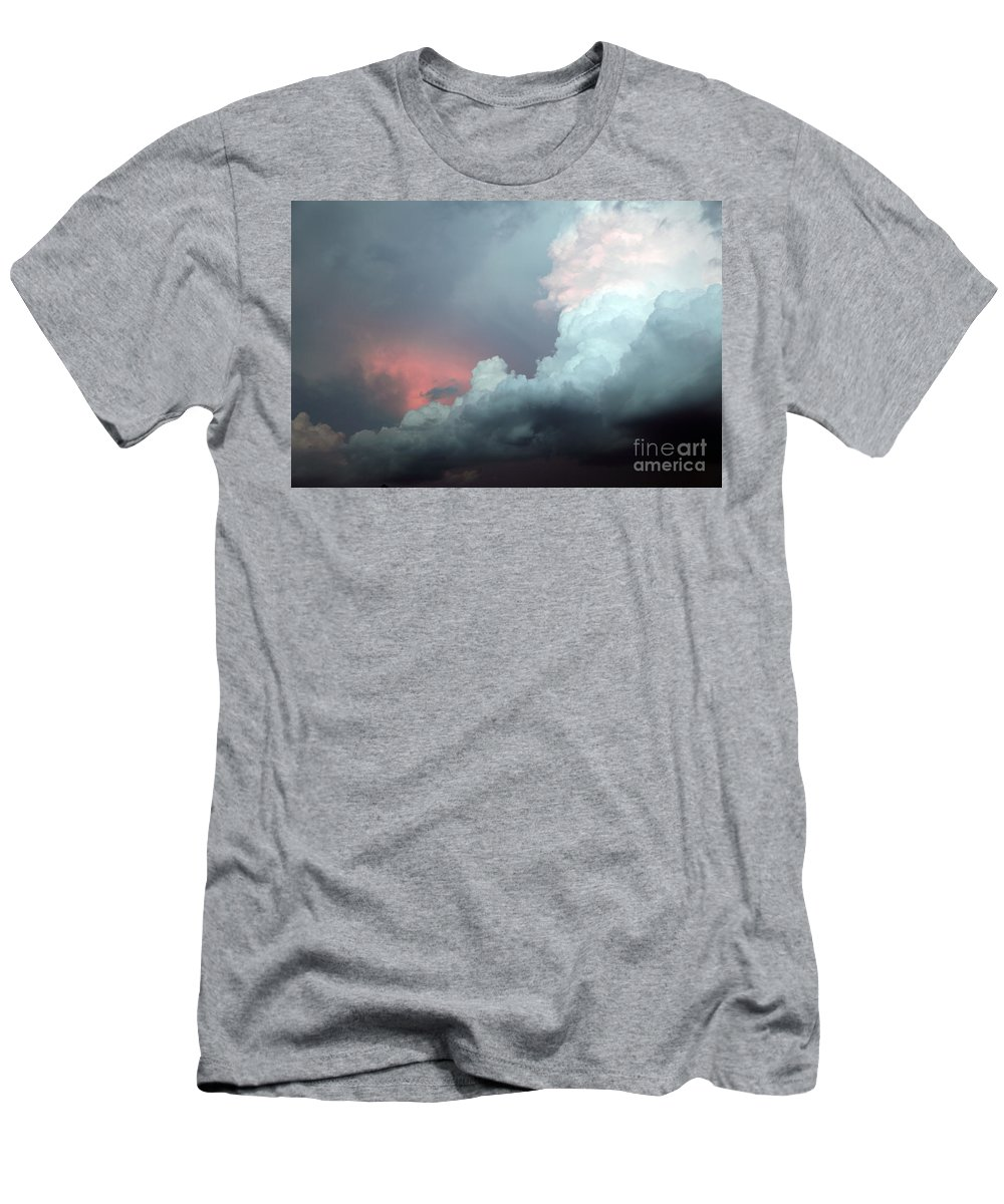 Clouds Men's T-Shirt (Athletic Fit) featuring the photograph Hello by Amanda Barcon