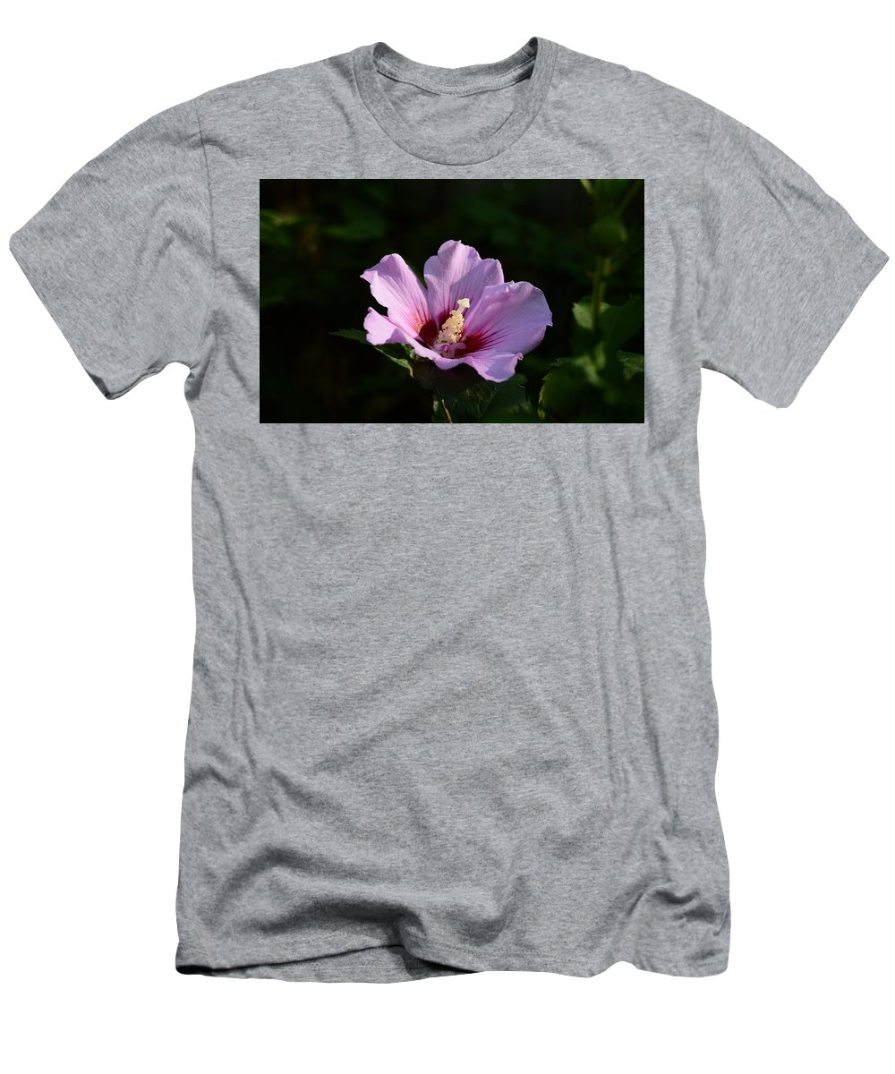 Hibiscus Light Men's T-Shirt (Athletic Fit) featuring the photograph Hibiscus Light by Warren Thompson