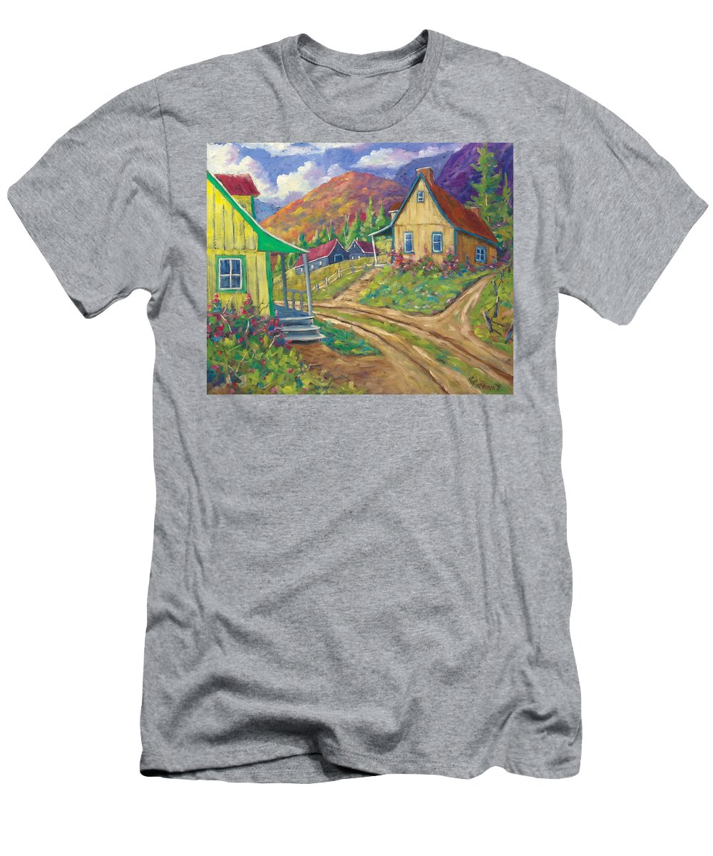 Art Men's T-Shirt (Athletic Fit) featuring the painting House Of Louis by Richard T Pranke