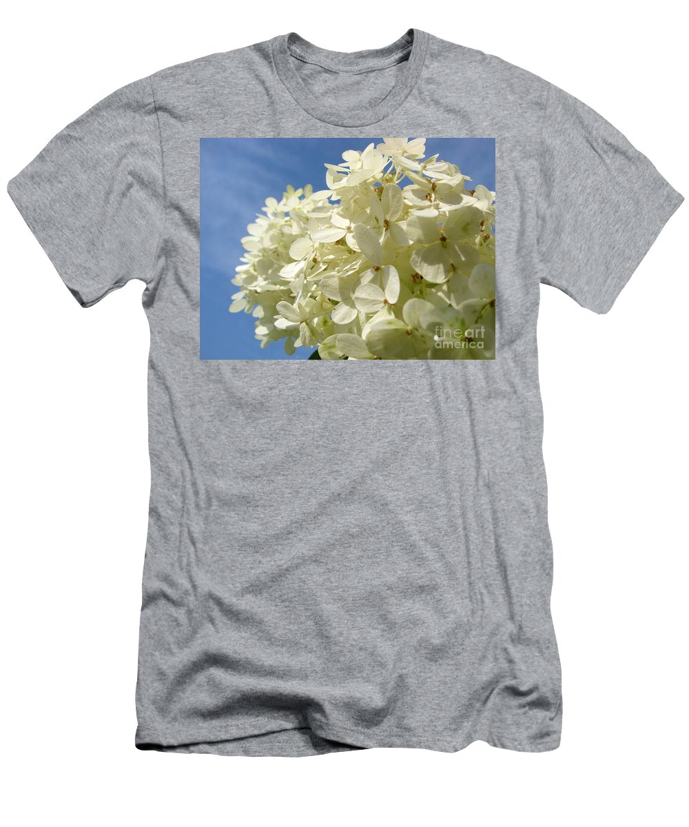 Hydranga Men's T-Shirt (Athletic Fit) featuring the photograph Hydrangea by Amanda Barcon