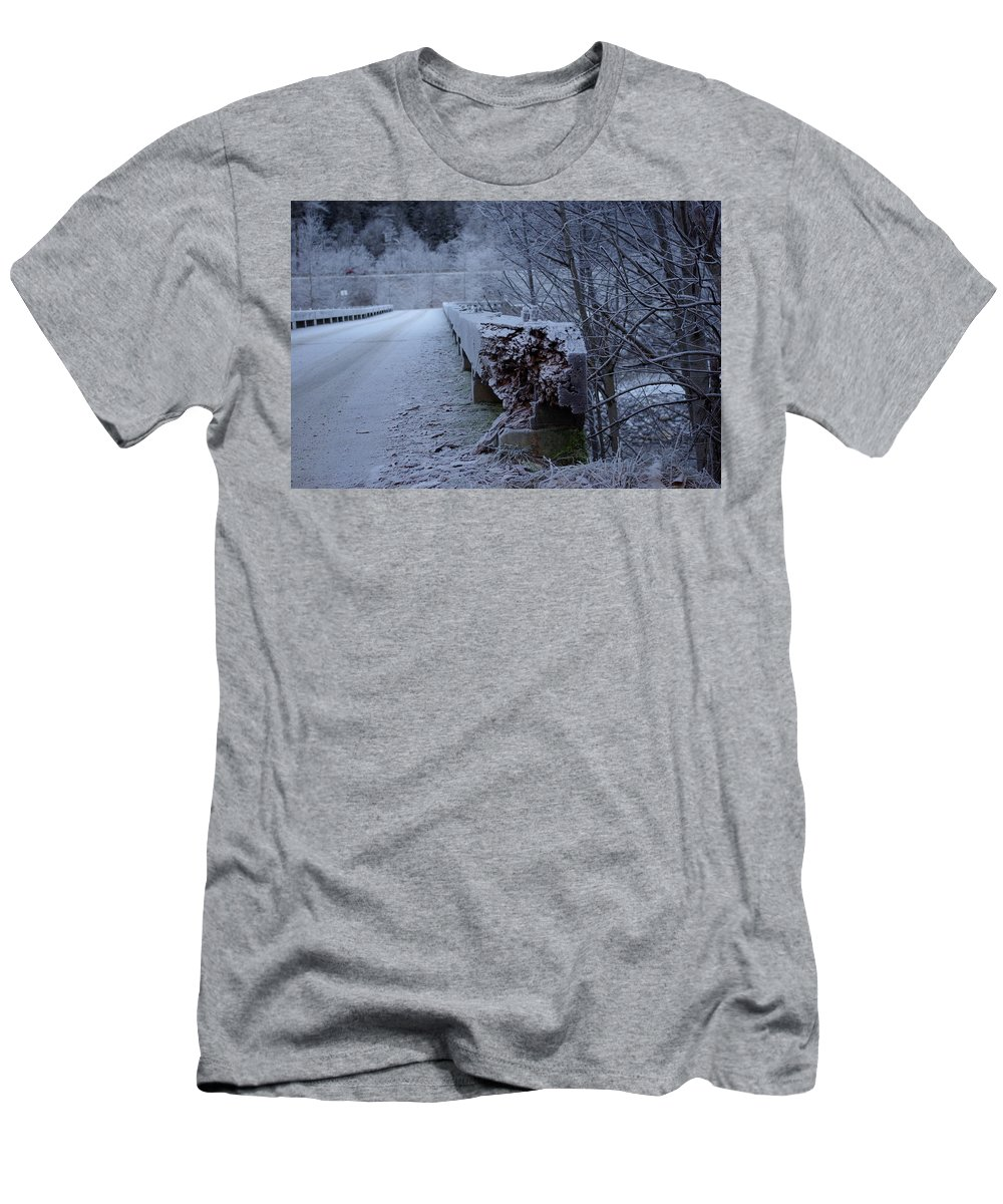 Ice Men's T-Shirt (Athletic Fit) featuring the photograph Ice Bridge by Cindy Johnston