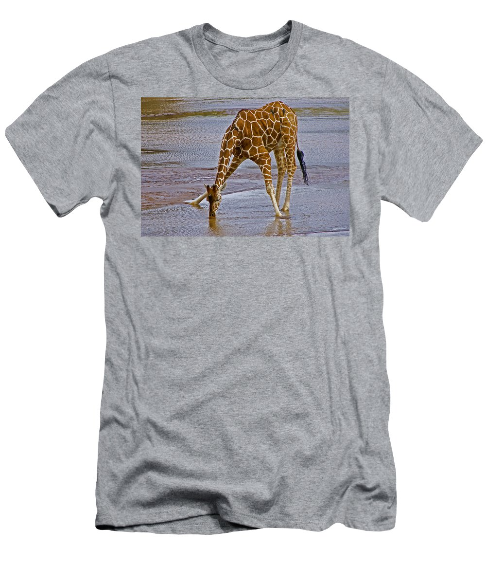 Africa Men's T-Shirt (Athletic Fit) featuring the photograph It's A Long Way Down by Michele Burgess