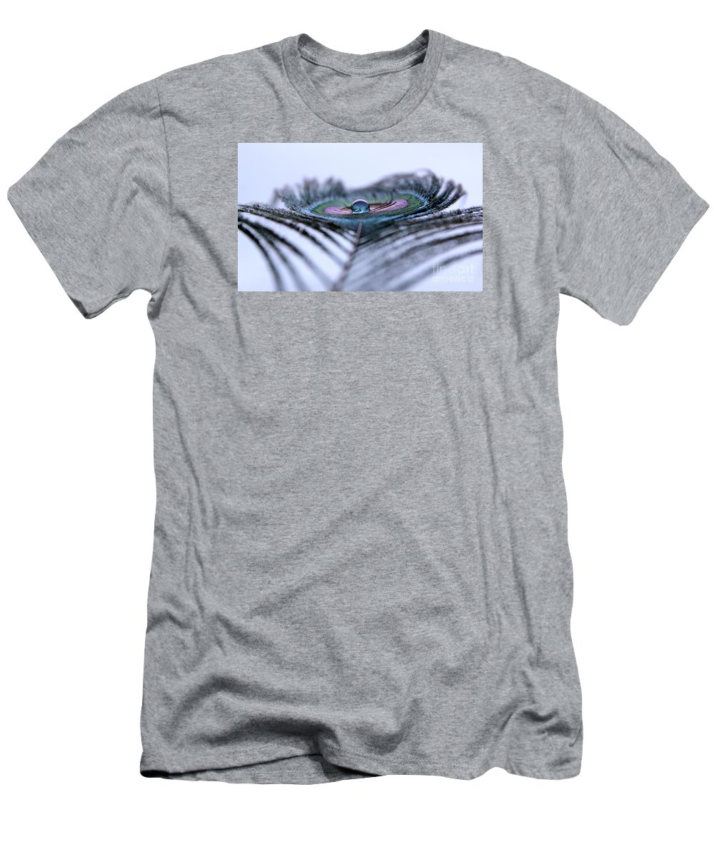 Peacock Men's T-Shirt (Athletic Fit) featuring the photograph January by Krissy Katsimbras