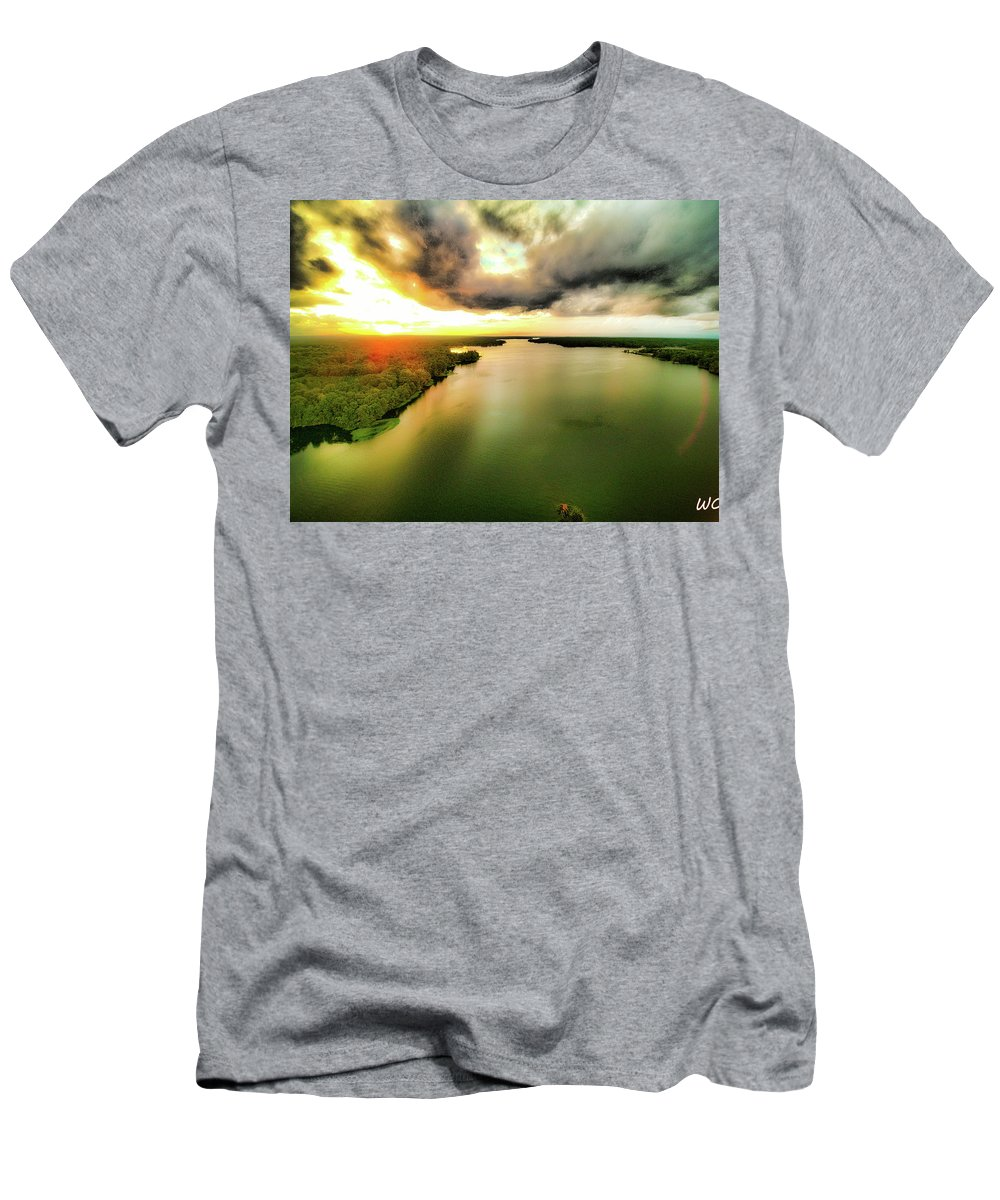Lakes Men's T-Shirt (Athletic Fit) featuring the photograph Lake Jordan by Dax Whitaker