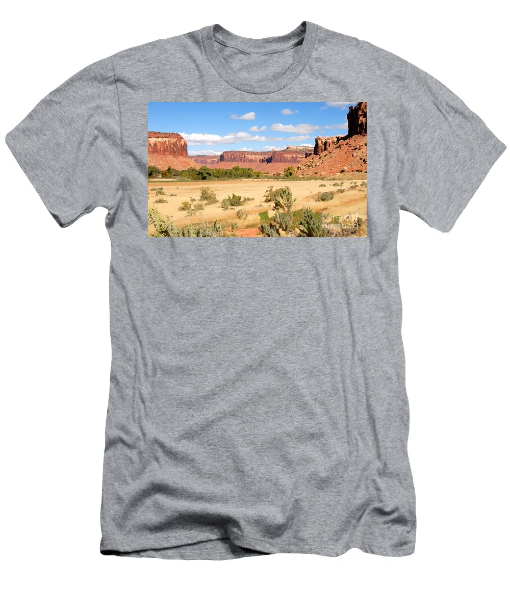Canyon Lands Men's T-Shirt (Athletic Fit) featuring the photograph Land Of Canyons by David Lee Thompson